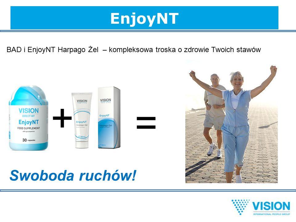 EnjoyNT BAD i EnjoyNT Harpago Żel – kompleksowa troska o zdrowie Twoich stawów + = Swoboda ruchów!