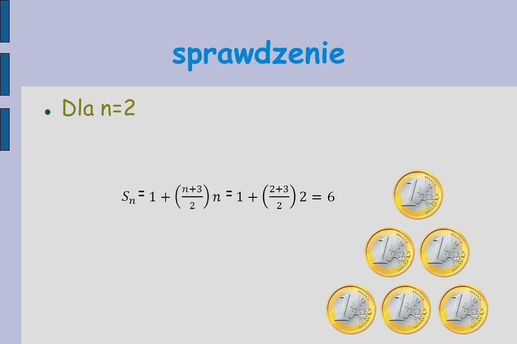 sprawdzenie Dla n=2 ==