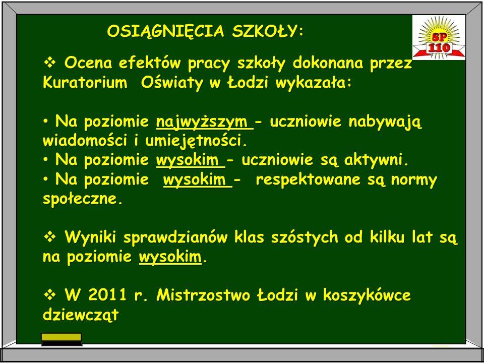 SZKOŁA PODSTAWOWA NR 110 IM. PARTYZANTÓW ZIEMI ŁÓDZKIEJ 93 – 329 ŁÓDŹ, UL.