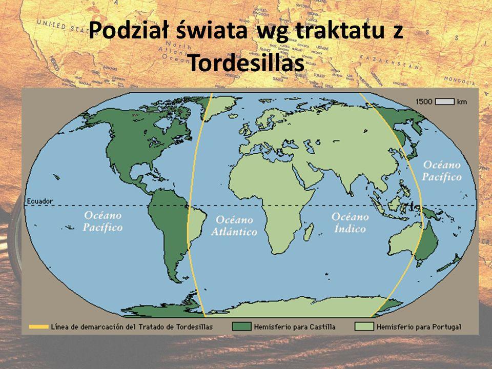 Podział świata wg traktatu z Tordesillas