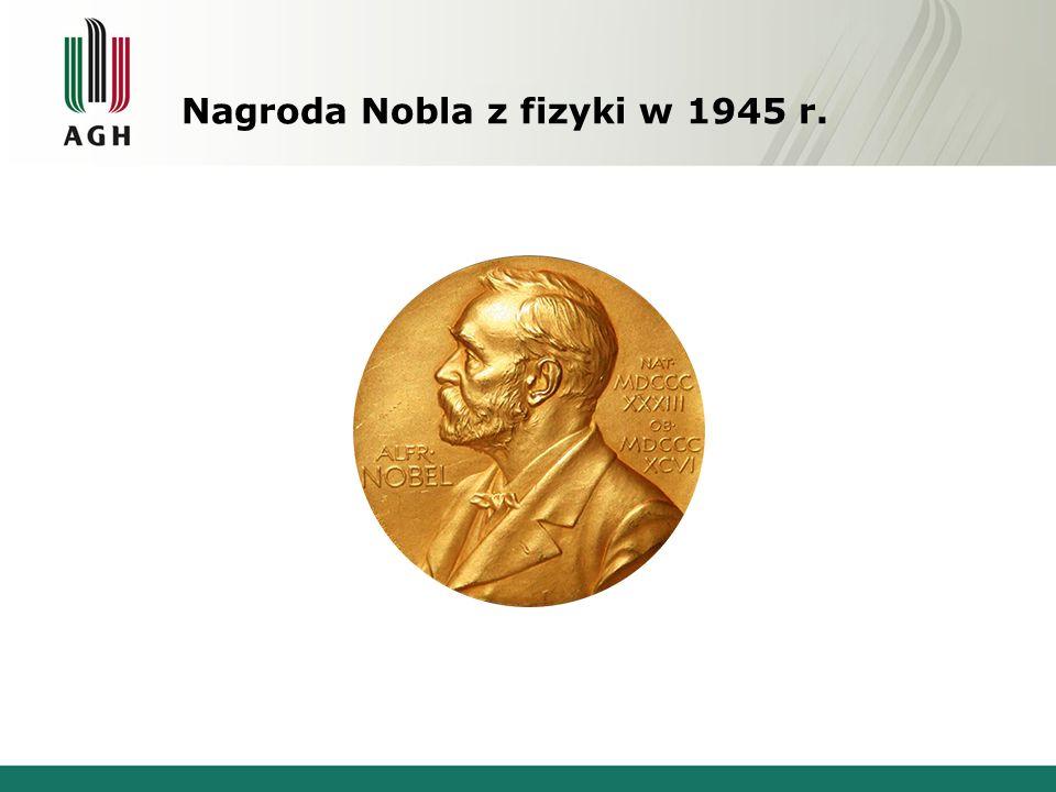 Nagroda Nobla z fizyki w 1945 r.