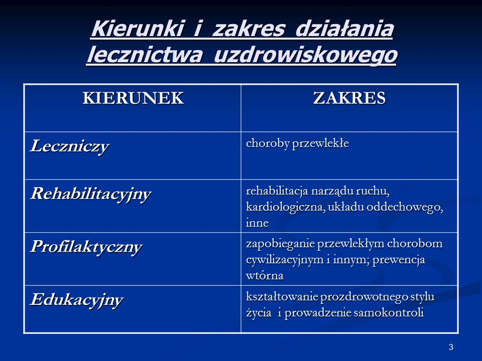 4 METODY LECZNICZE  BALNEOTERAPIA, PELOIDOTERAPIA ( wody mineralne, peloidy, gazy lecznicze )  HYDROTERAPIA  TERMOTERAPIA  KINEZYTERAPIA  FIZYKOTERAPIA (elektroterapia, fototerapia, ultrasonoterapia, termo i krioterapia )  DIETA  EDUKACJA ZDROWOTNA  PSYCHOTERAPIA  FARMAKOTERAPIA  FITOTERAPIA