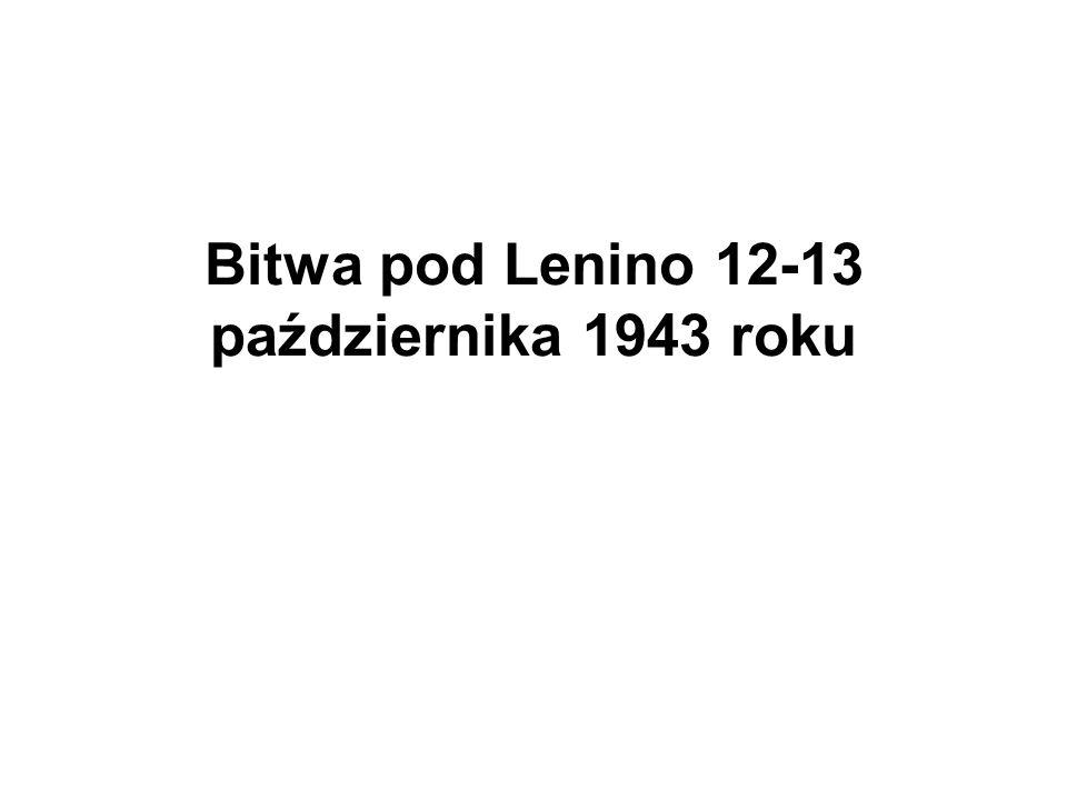 Bitwa pod Lenino 12-13 października 1943 roku