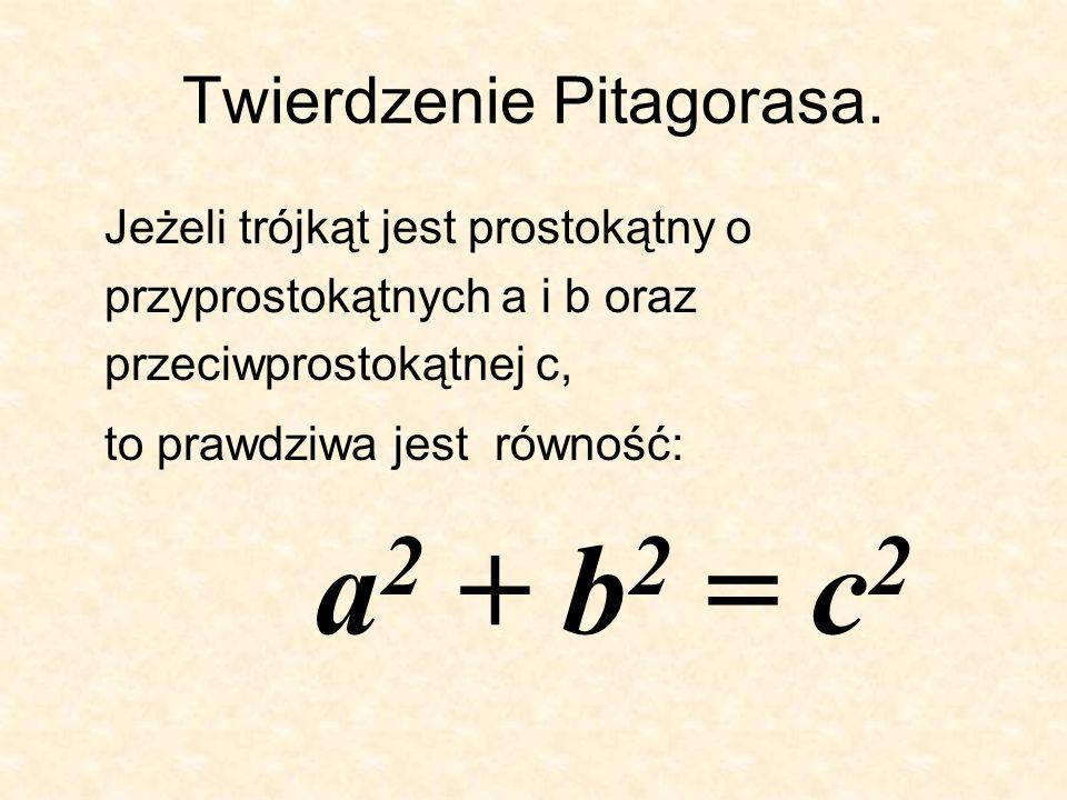 Twierdzenie Pitagorasa.