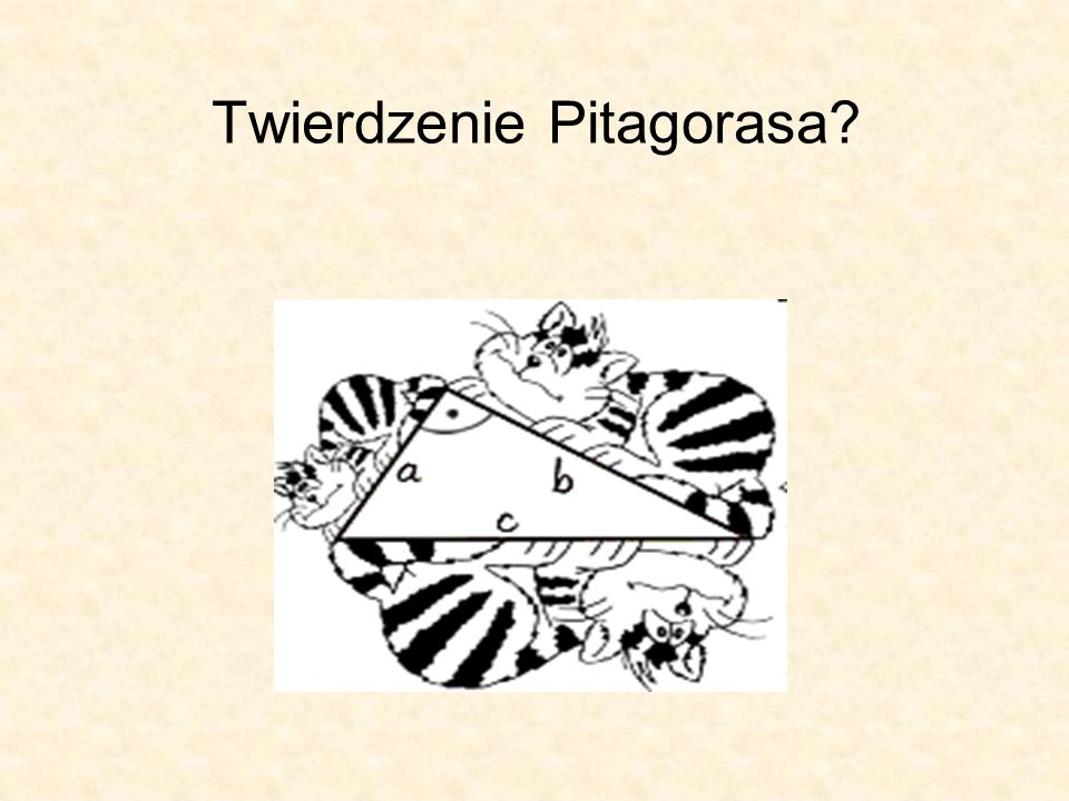 Twierdzenie Pitagorasa?