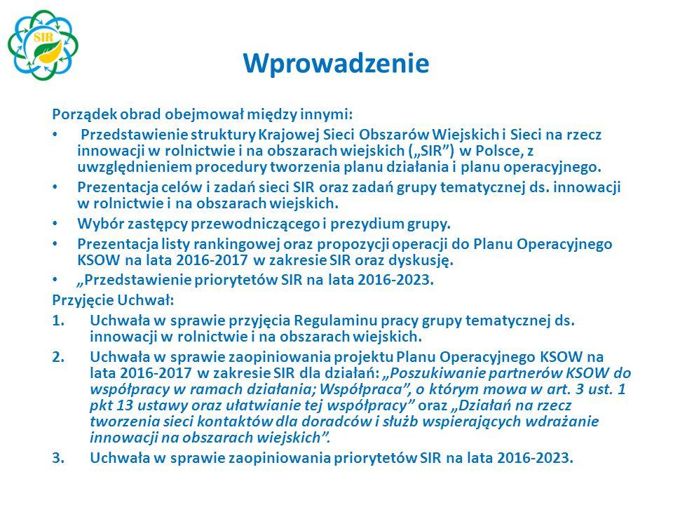 Oczekiwania członków grupy względem roli i pracy grupy postrzeganie grupy jako organu opiniodawczo-doradczego dla CDR i WODR m.in.