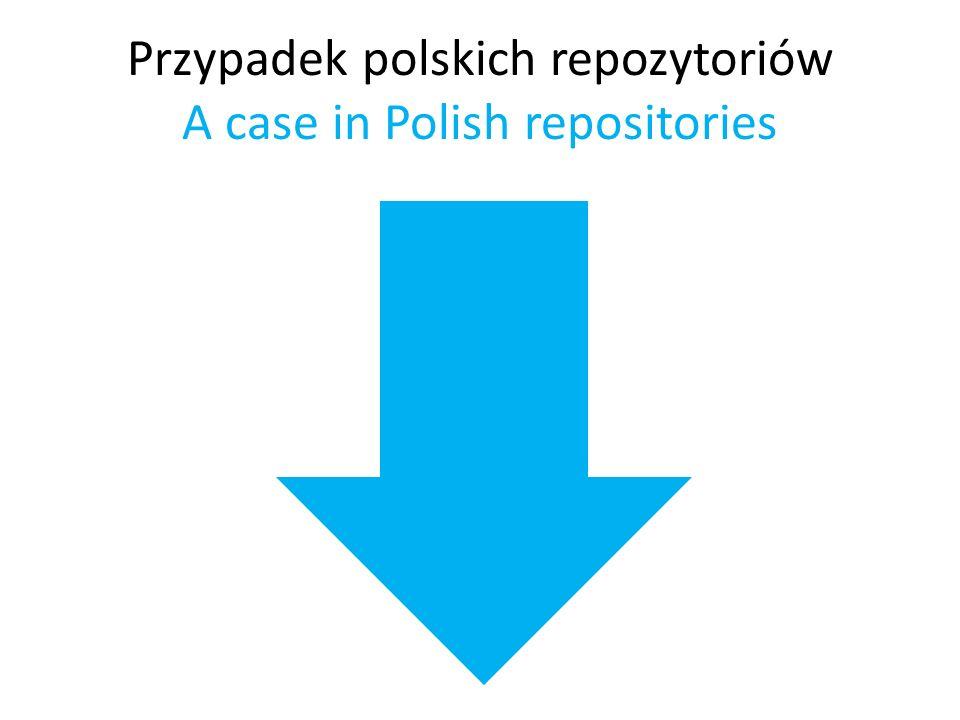 Przypadek polskich repozytoriów A case in Polish repositories