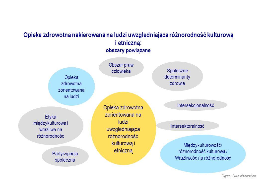 Opieka zdrowotna nakierowana na ludzi uwzględniająca różnorodność kulturową i etniczną: obszary powiązane Figure: Own elaboration. Obszar praw człowie
