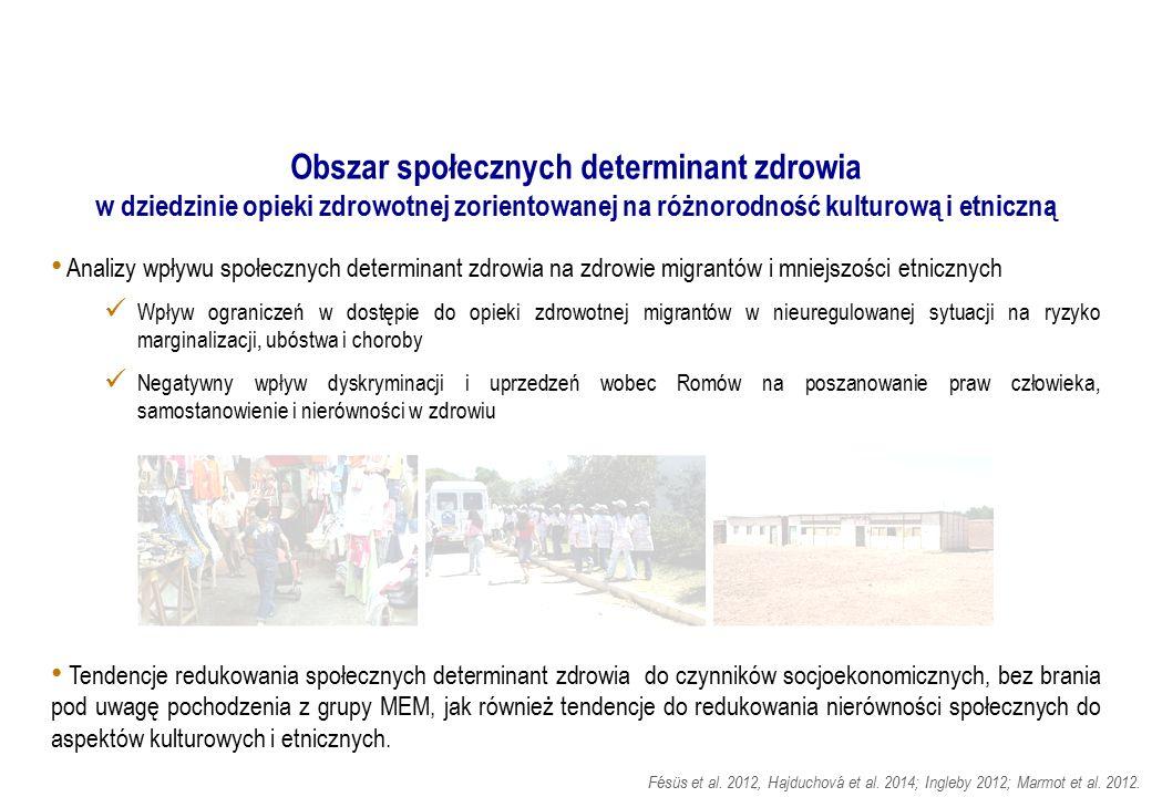 Analizy wpływu społecznych determinant zdrowia na zdrowie migrantów i mniejszości etnicznych Wpływ ograniczeń w dostępie do opieki zdrowotnej migrantó