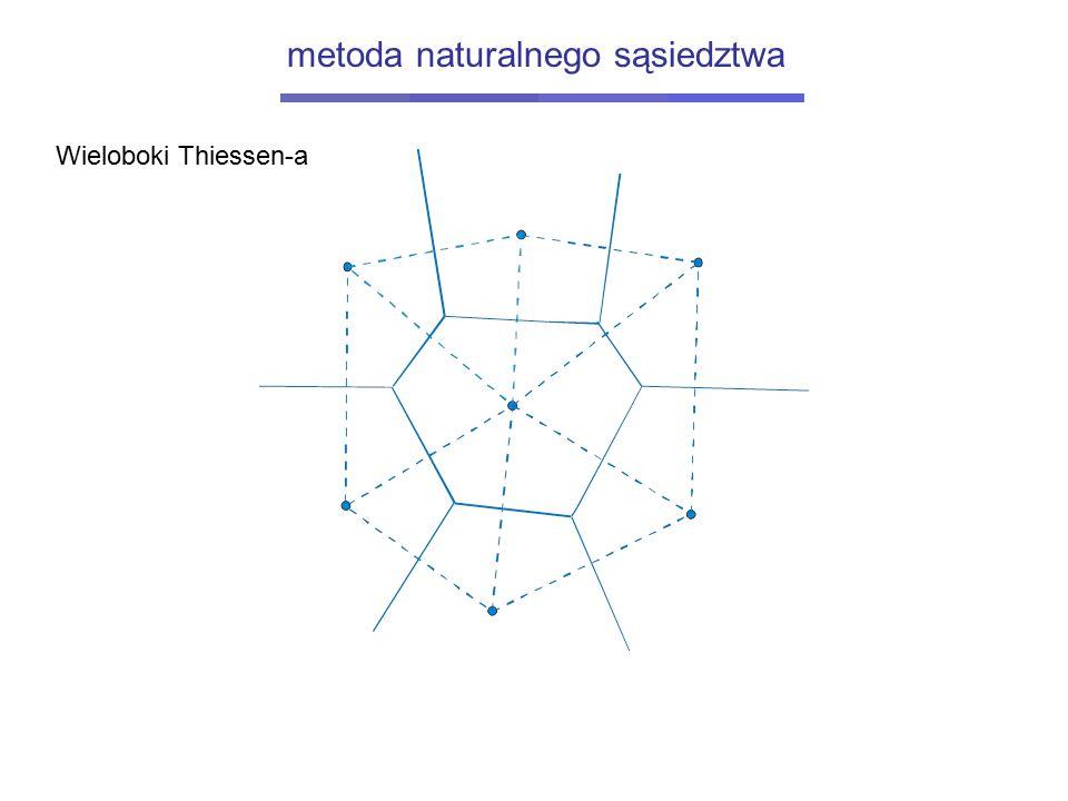 Wieloboki Thiessen-a metoda naturalnego sąsiedztwa