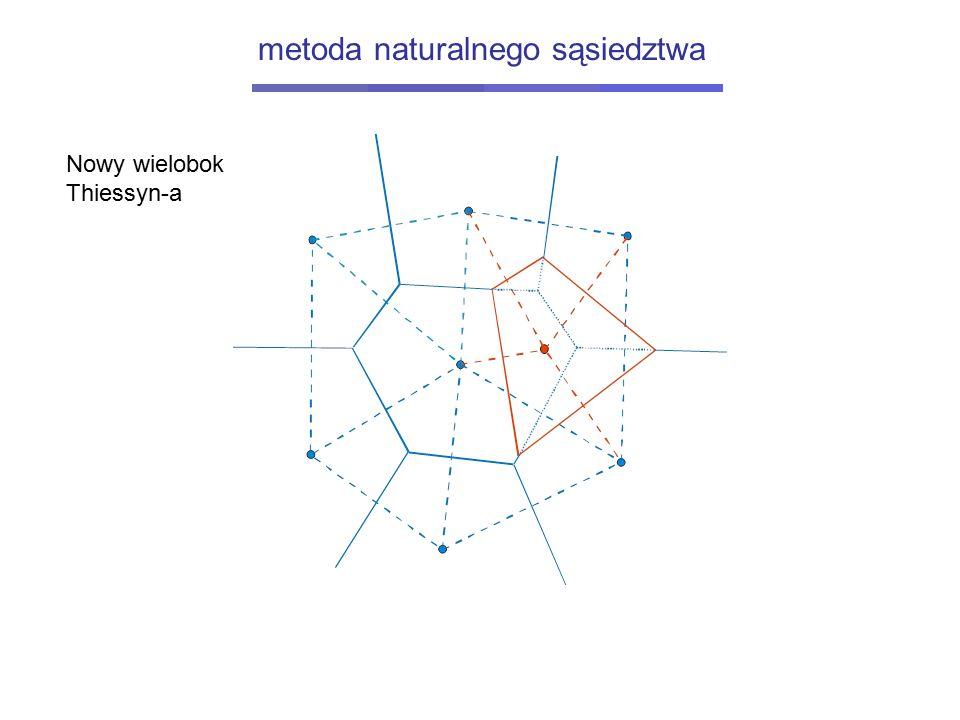 Nowy wielobok Thiessyn-a metoda naturalnego sąsiedztwa