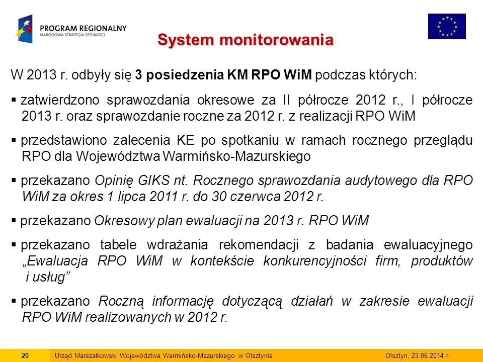 20Urząd Marszałkowski Województwa Warmińsko-Mazurskiego w Olsztynie Olsztyn, 23.06.2014 r.