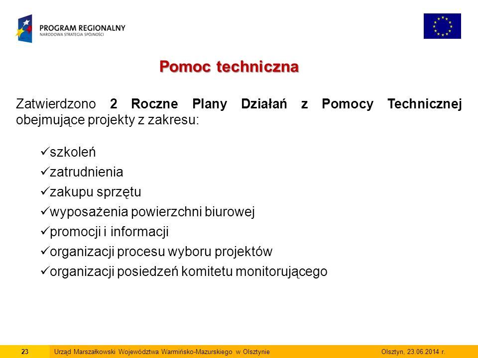 23Urząd Marszałkowski Województwa Warmińsko-Mazurskiego w Olsztynie Olsztyn, 23.06.2014 r.