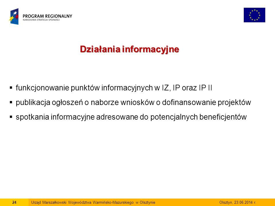 24Urząd Marszałkowski Województwa Warmińsko-Mazurskiego w Olsztynie Olsztyn, 23.06.2014 r.