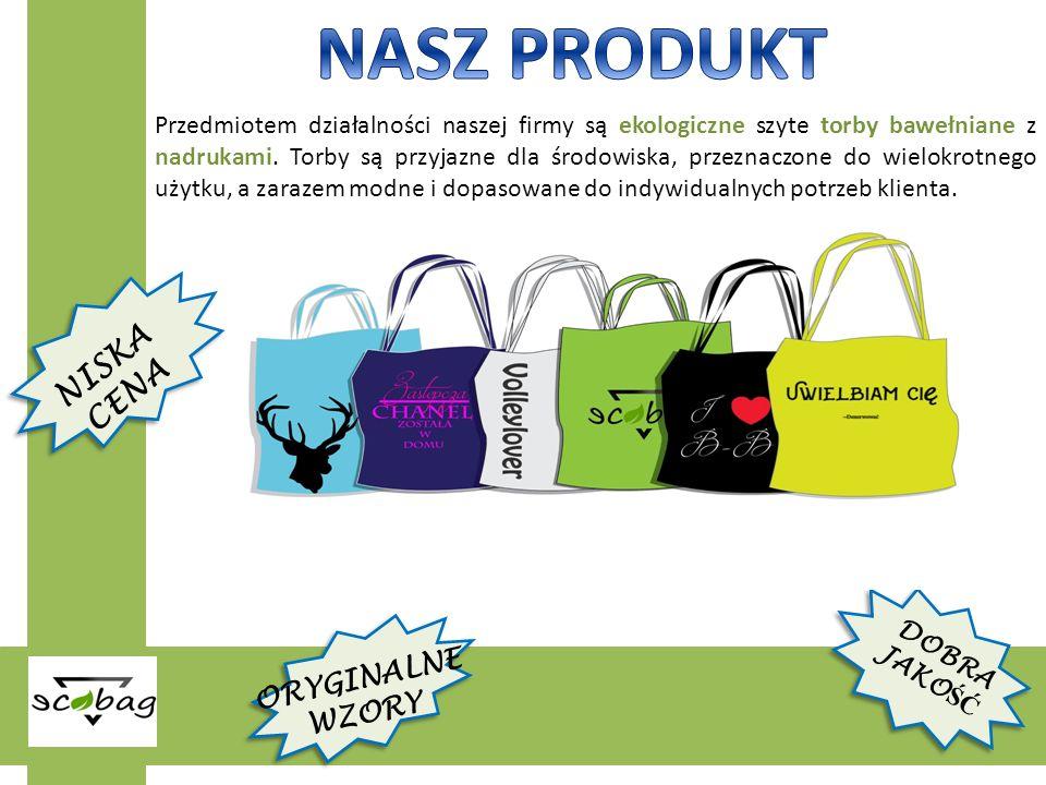 Przedmiotem działalności naszej firmy są ekologiczne szyte torby bawełniane z nadrukami.