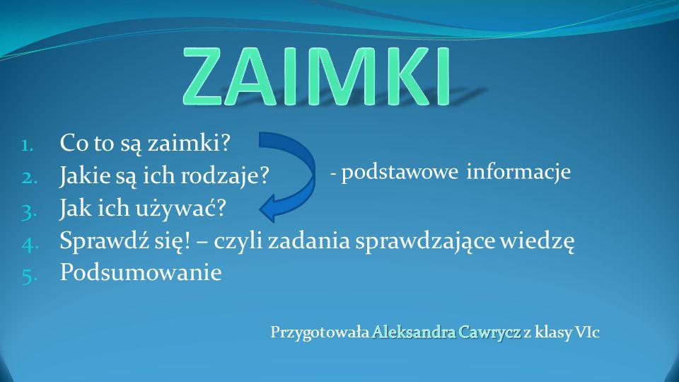 - podstawowe informacje