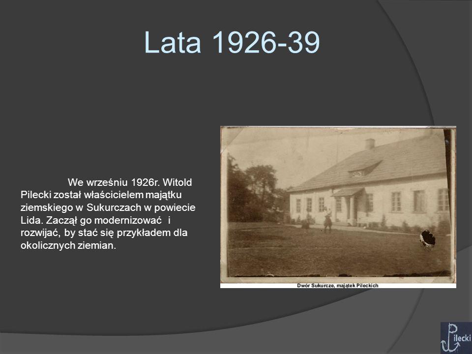 Lata 1926-39 W 1929r.Poznał nauczycielkę Marię Ostrowską, którą poślubił 7.