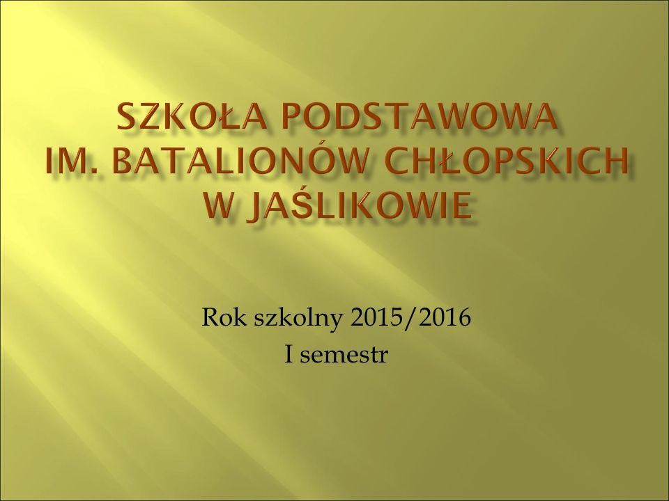 Rok szkolny 2015/2016 I semestr