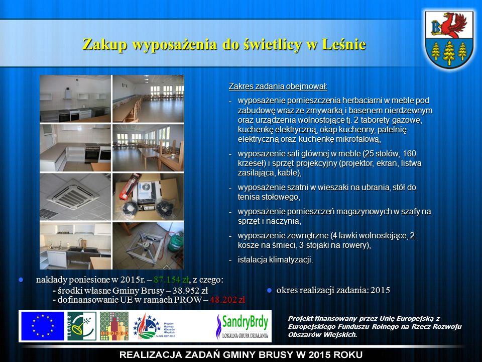 Zakup wyposażenia do świetlicy w Leśnie nakłady poniesione w 2015r.