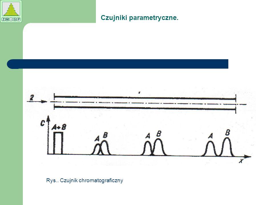 Rys.. Czujnik chromatograficzny Czujniki parametryczne.