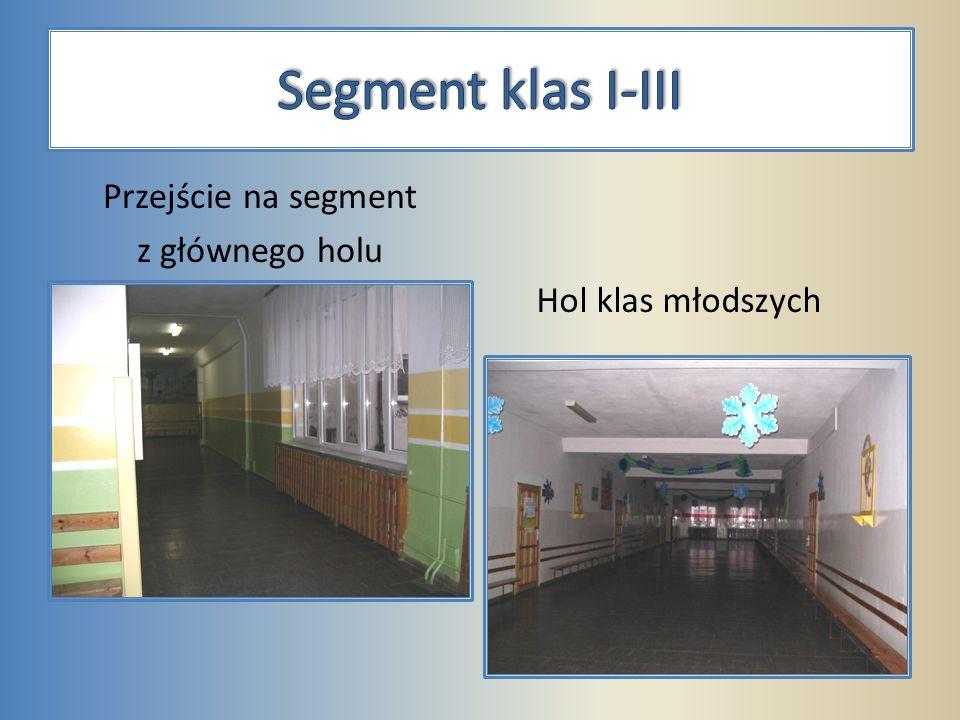Przejście na segment z głównego holu Hol klas młodszych
