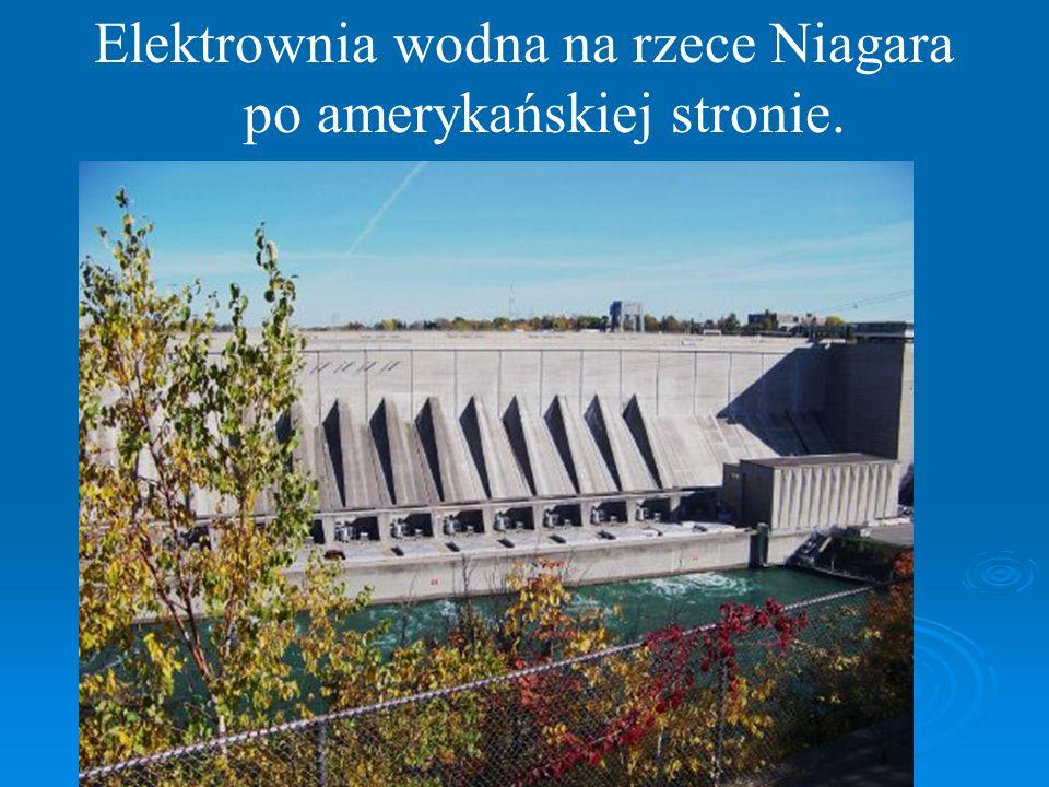 Elektrownia wodna na rzece Niagara po amerykańskiej stronie.