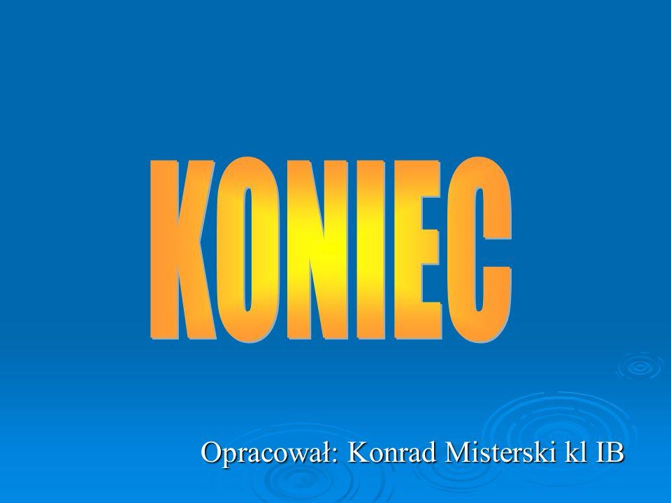 Opracował: Konrad Misterski kl IB Opracował: Konrad Misterski kl IB