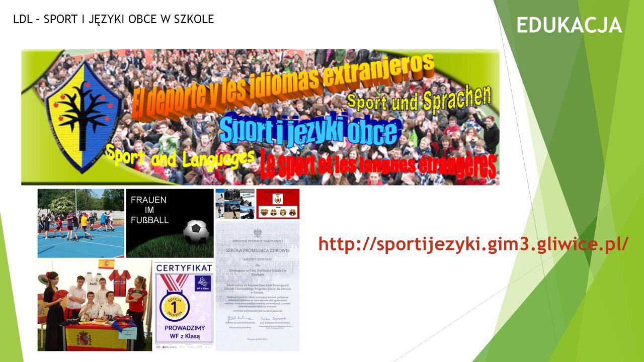 EDUKACJA LDL – SPORT I JĘZYKI OBCE W SZKOLE http://sportijezyki.gim3.gliwice.pl/