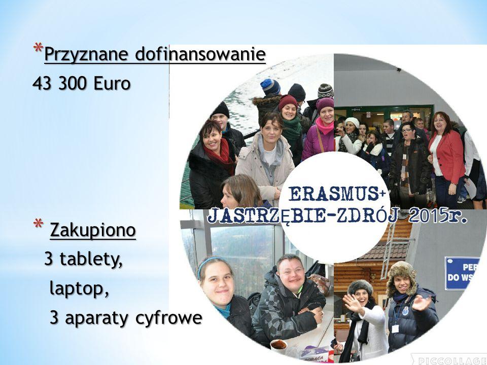 * Przyznane dofinansowanie 43 300 Euro * Zakupiono 3 tablety, 3 tablety, laptop, laptop, 3 aparaty cyfrowe 3 aparaty cyfrowe