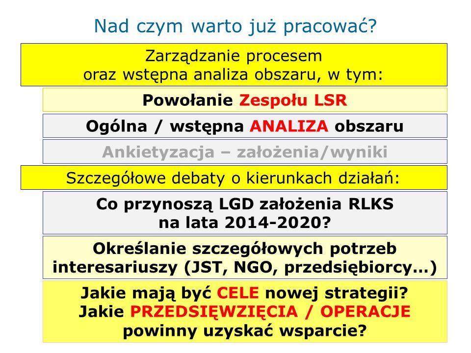 Pierwsze kroki na drodze do nowej LSR Spójność terytorialna, geograficzna Jaki OBSZAR.