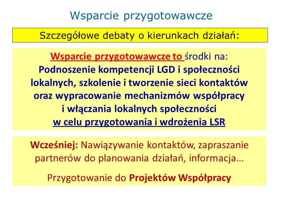 Kluczowe elementy przed okresem przygotowawczym: Określenie obszaru – lista gmin, liczba mieszkańców… Opis obszaru – problemy, wstępne wnioski, specyf