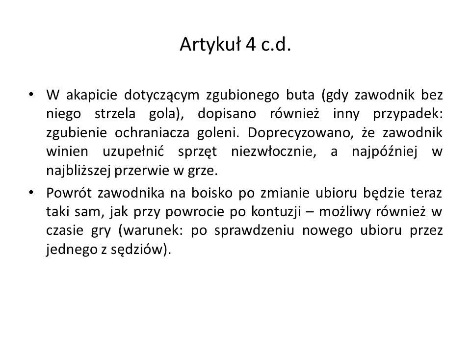 Artykuł 4 c.d.