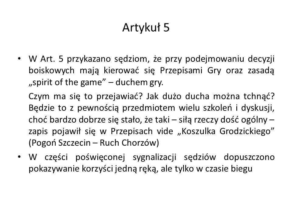 Artykuł 5 W Art.