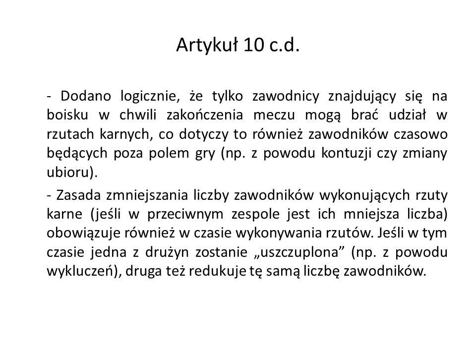Artykuł 10 c.d.