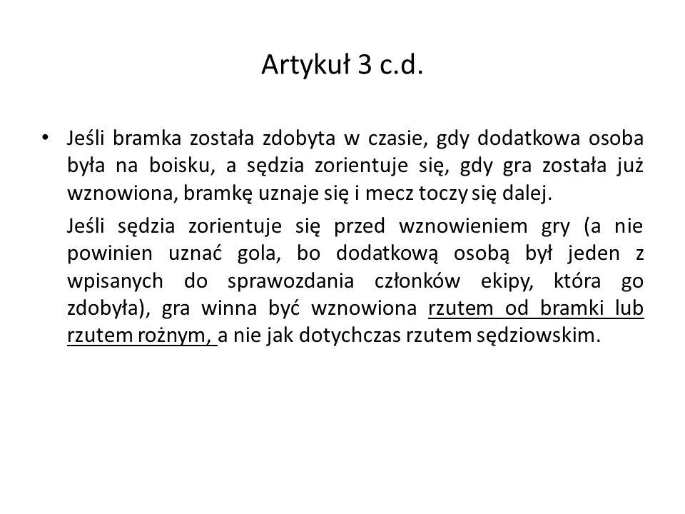 Artykuł 3 c.d.