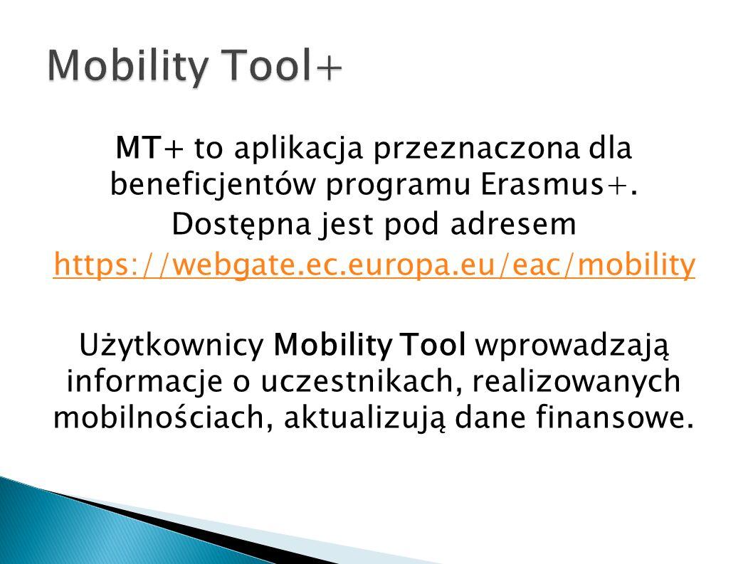 MT+ to aplikacja przeznaczona dla beneficjentów programu Erasmus+.