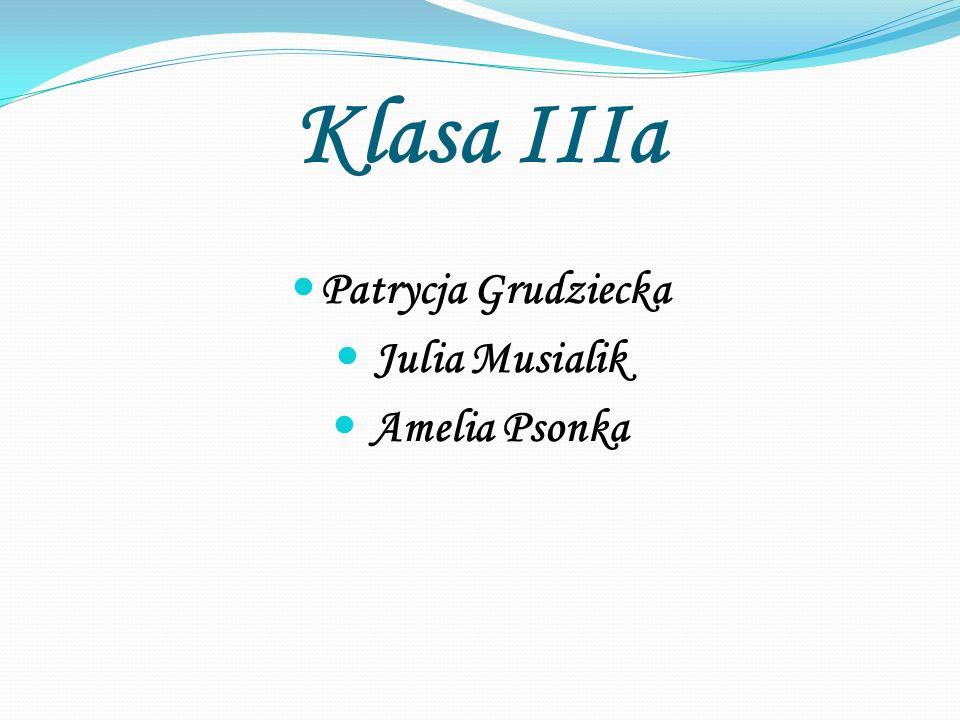 Klasa IIIa Patrycja Grudziecka Julia Musialik Amelia Psonka