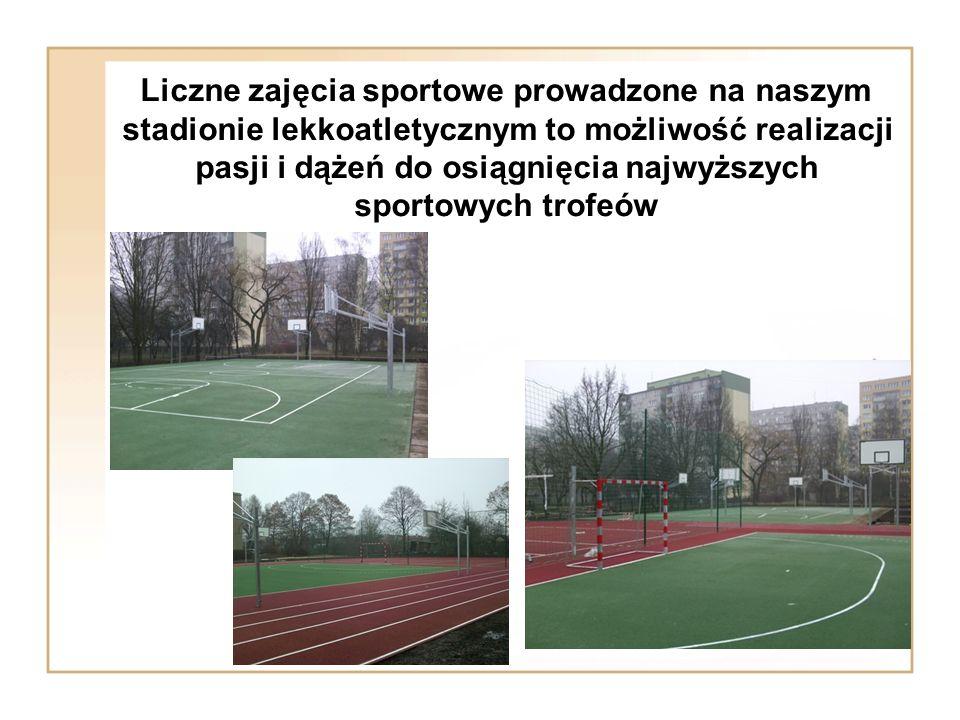 Liczne zajęcia sportowe prowadzone na naszym stadionie lekkoatletycznym to możliwość realizacji pasji i dążeń do osiągnięcia najwyższych sportowych trofeów
