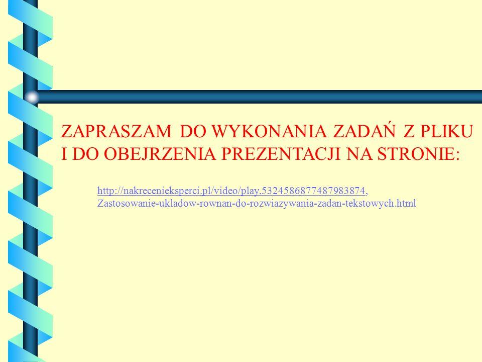 http://nakrecenieksperci.pl/video/play,5324586877487983874http://nakrecenieksperci.pl/video/play,5324586877487983874, Zastosowanie-ukladow-rownan-do-r