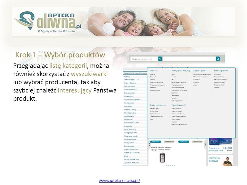 Przy każdym produkcie znajdą Państwo szczegółowe informacje na jego temat, klikając na dany produkt.