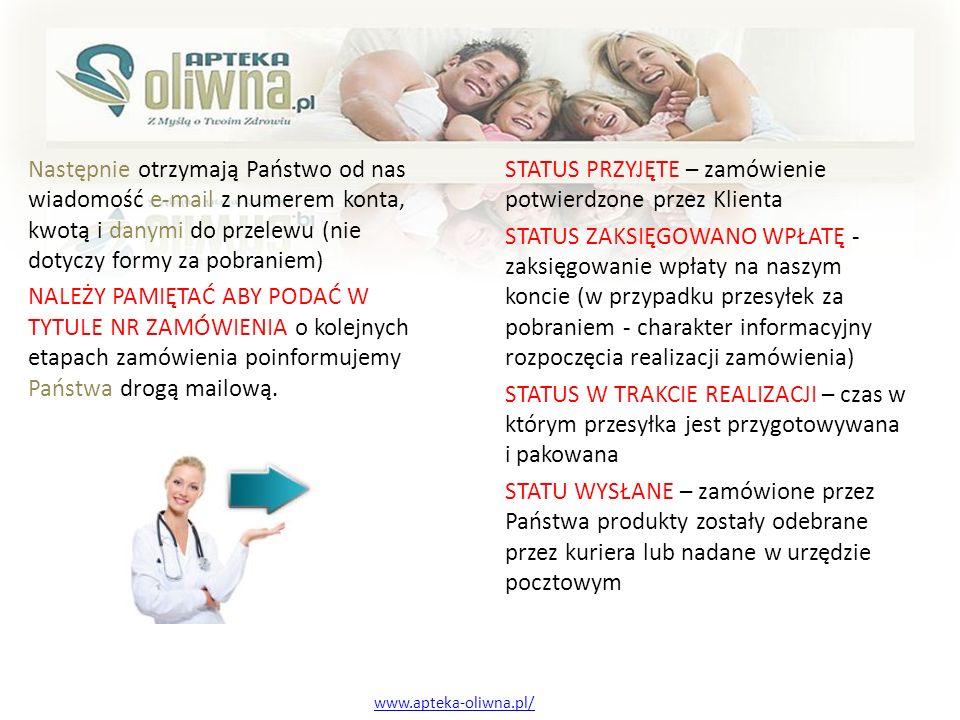 Serdecznie zapraszamy www.apteka-oliwna.pl