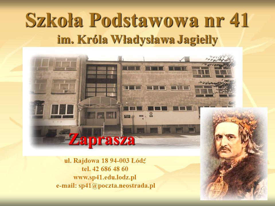 Szkoła Podstawowa nr 41 im. Króla Władysława Jagiełly ul.
