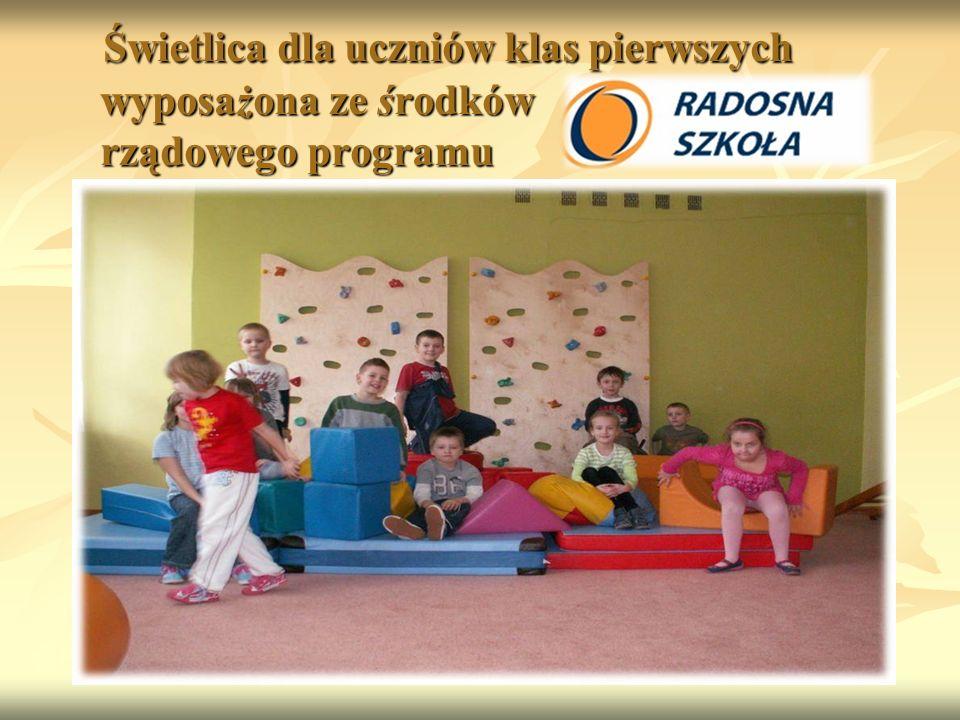 Świetlica dla uczniów klas pierwszych wyposażona ze środków rządowego programu Świetlica dla uczniów klas pierwszych wyposażona ze środków rządowego programu