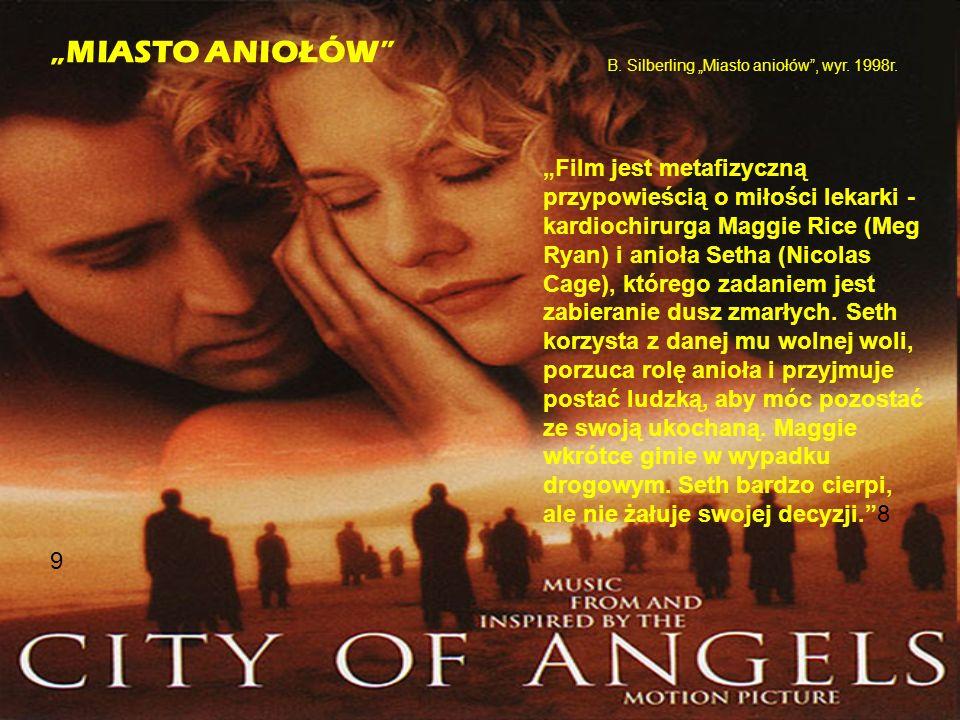 """""""Film jest metafizyczną przypowieścią o miłości lekarki - kardiochirurga Maggie Rice (Meg Ryan) i anioła Setha (Nicolas Cage), którego zadaniem jest zabieranie dusz zmarłych."""