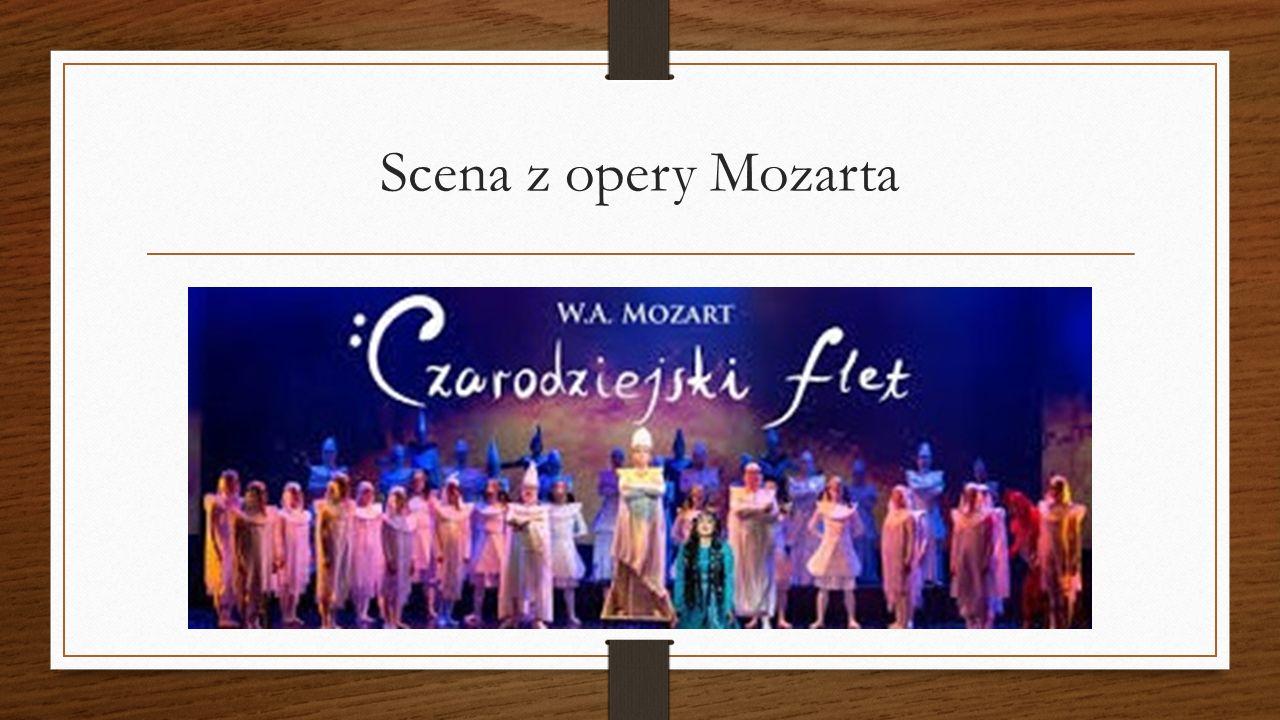 Scena z opery Mozarta