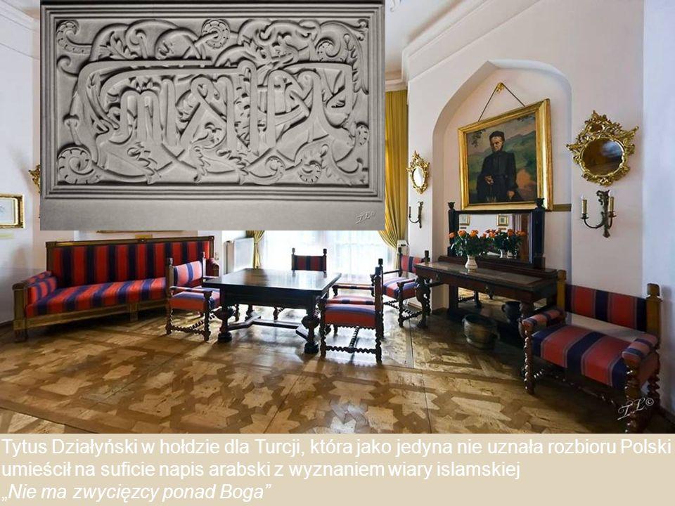 Pokój Marii Zamoyskiej z bogatą orientalną sztukaterią sufitu.