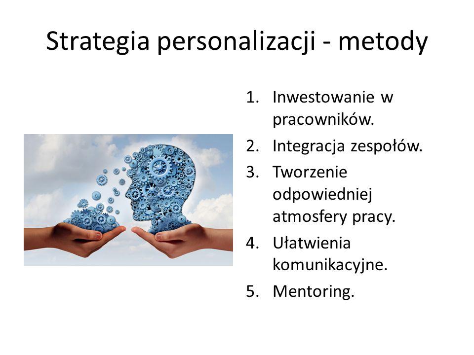 Techniki personalizacji - mentoring Mentoring – przekazywanie wiedzy przez doświadczonego pracownika w trakcie długotrwałej współpracy z mniej doświadczoną osobą