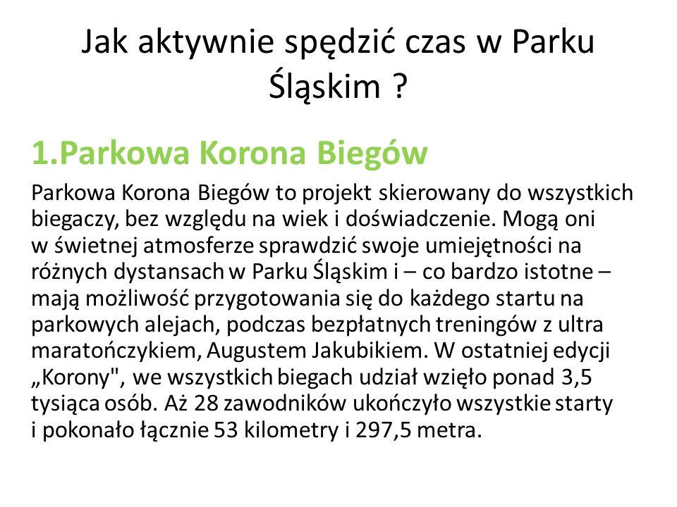 Jak aktywnie spędzić czas w Parku Śląskim .