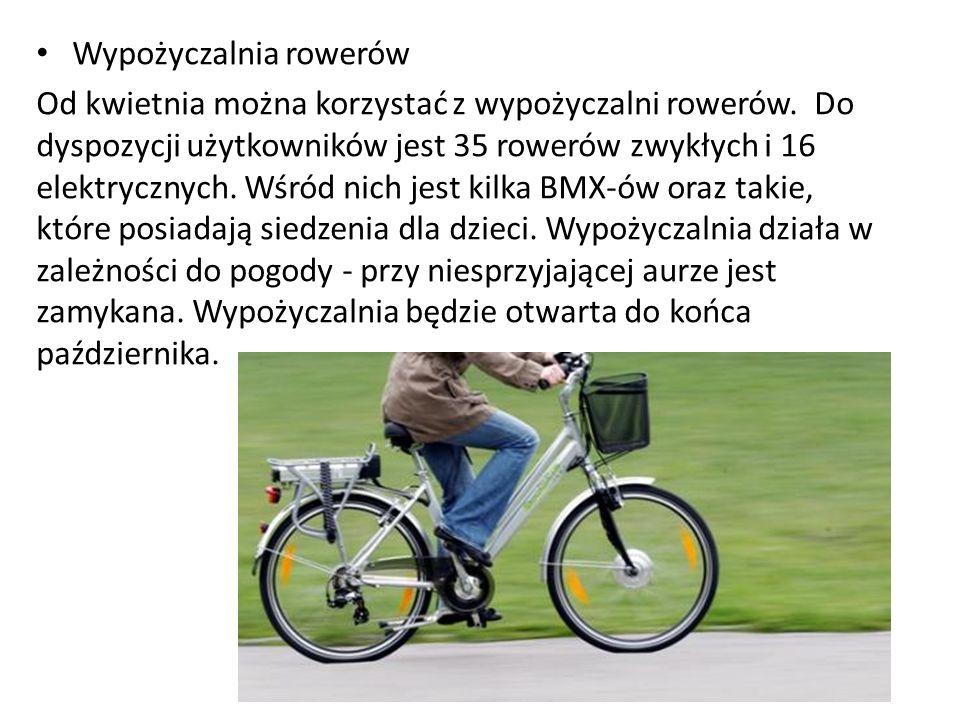 Wypożyczalnia rowerów Od kwietnia można korzystać z wypożyczalni rowerów.