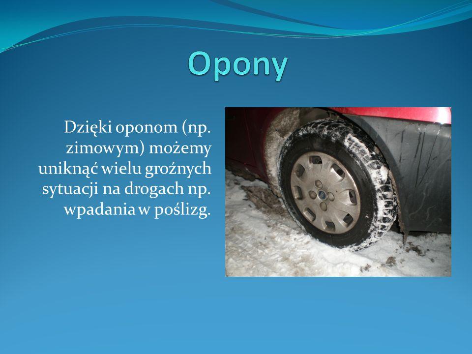 Dzięki oponom (np. zimowym) możemy uniknąć wielu groźnych sytuacji na drogach np. wpadania w poślizg.